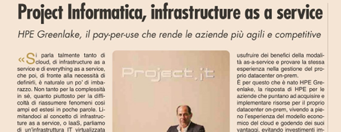 Project Informatica, infrastructure as a service